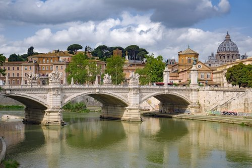 bridge  river  tiber