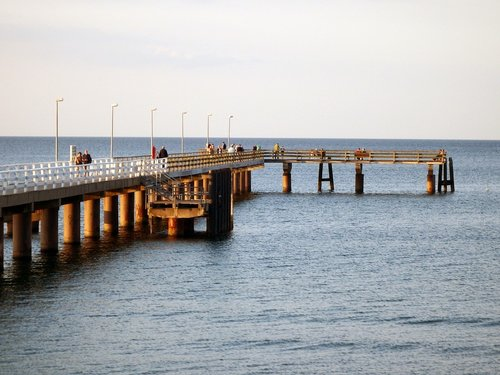 bridge  baltic sea  sea
