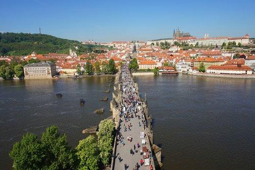 bridge  prague  czechia