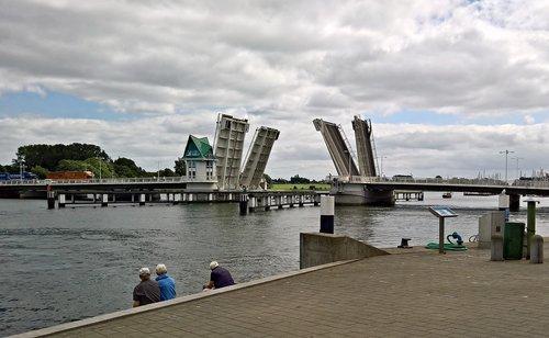 bridge  bascule bridge  building