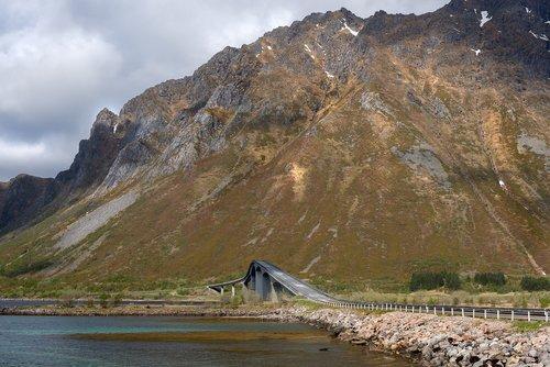 bridge  mountain  sea