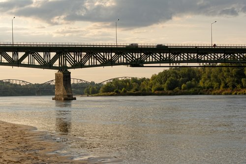 bridge  river  wisla