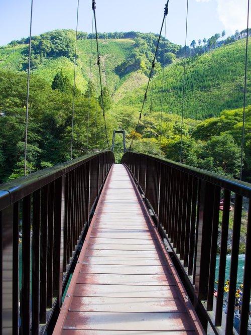 bridge  suspension bridge  mountain