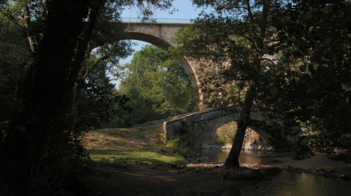 bridge light river