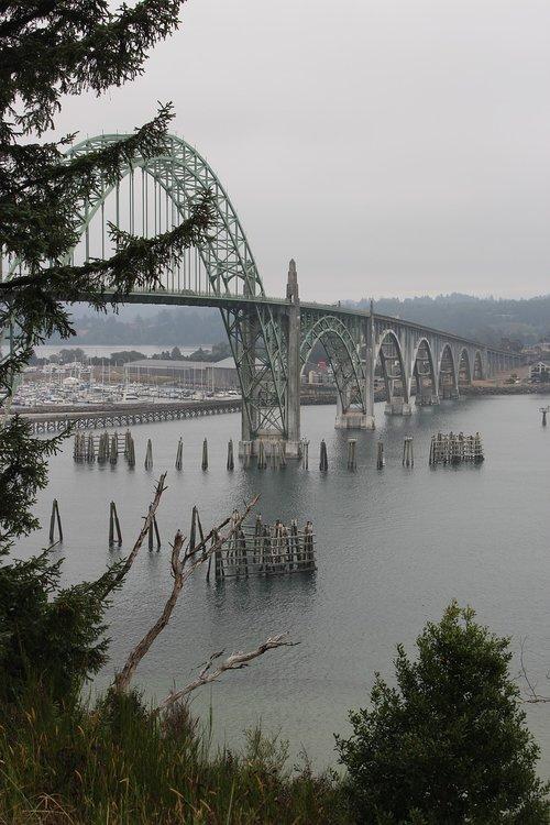 bridge  skyline  river