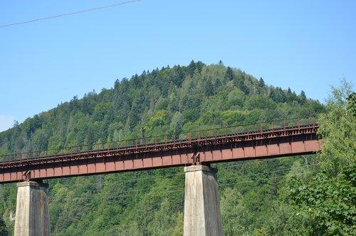 bridge  the carpathians  mountains