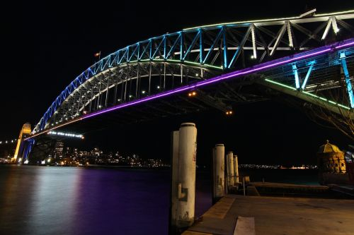 bridge night sydney