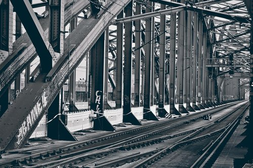 bridge  gleise  railway
