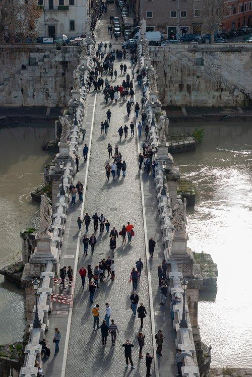 bridge  rome  tiber