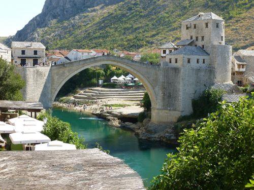 bridge bosnia mountain
