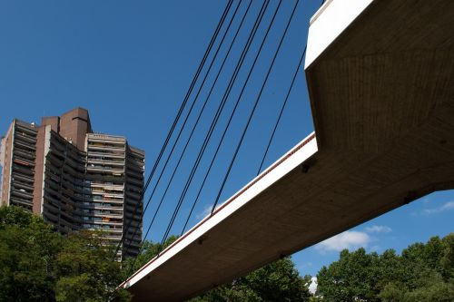 bridge suspension bridge mannheim