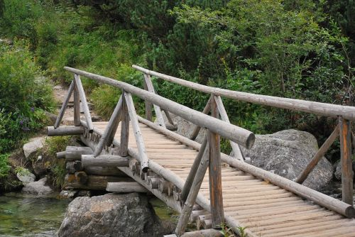 bridge wooden river