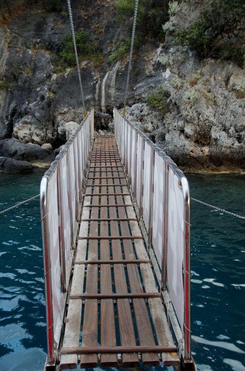 bridge sea footbridge