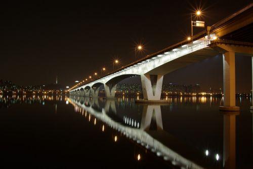 bridge night south korea