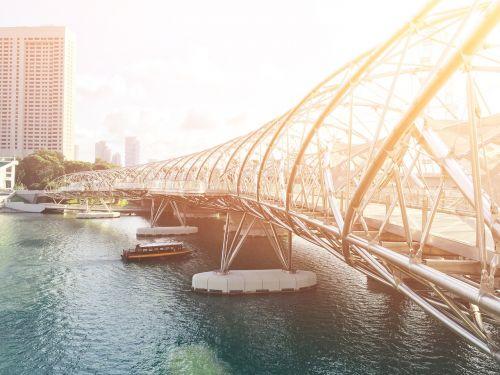bridge crossing modern