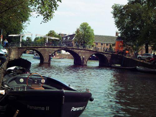 bridge canals of amsterdam amsterdam