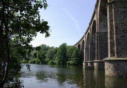 bridge aqueduct eisenbahbruecke