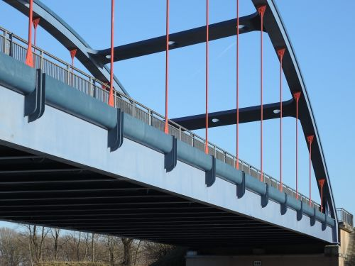 bridge construction steel metal rods