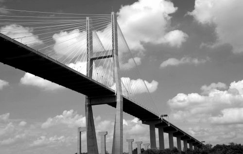 bridge span bridge black and white