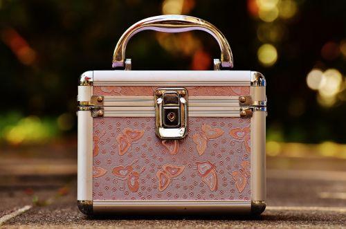briefcase pink silver