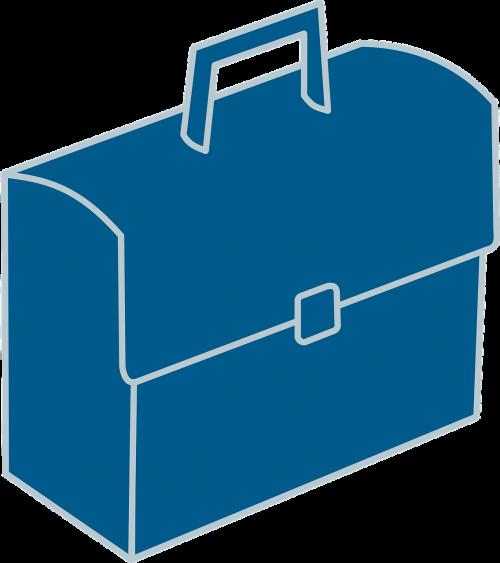 briefcase blue business