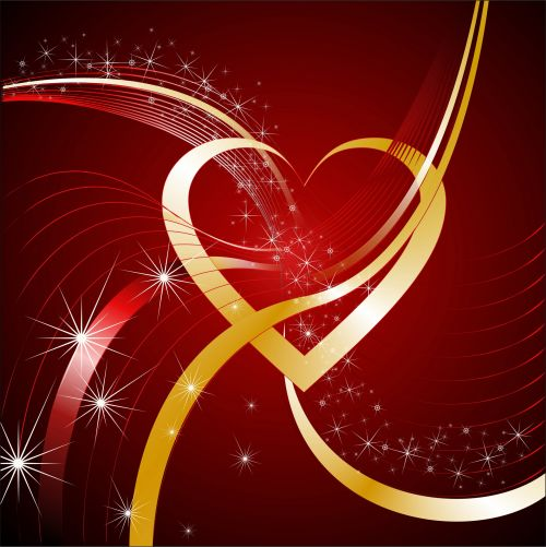 Bright Background With Heart