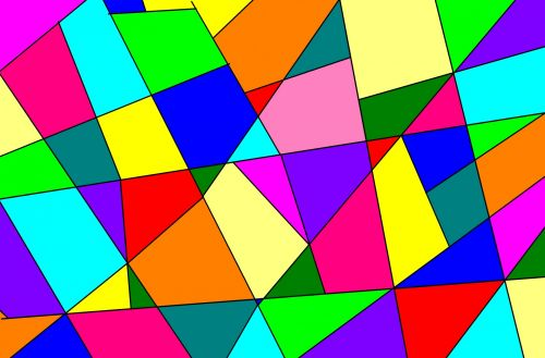 Bright Colored Abstraction