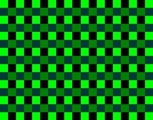 Bright Green Block Pattern