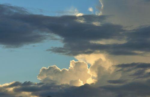 Bright White Amongst Shady Cloud