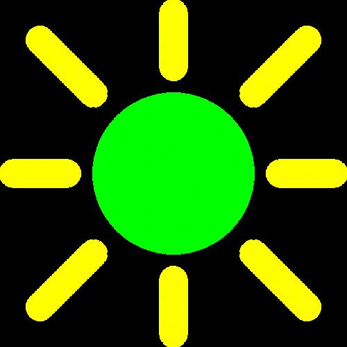 brightness control yellow