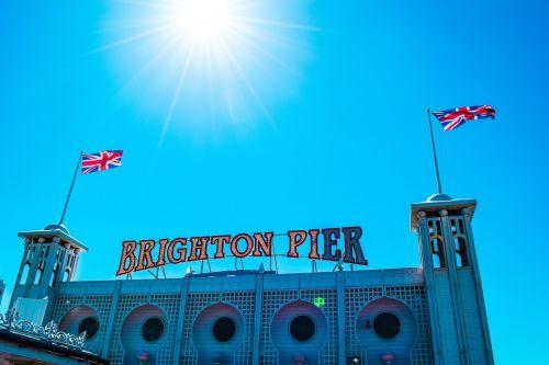 brighton,england,sky,blue,travel,pier,brightonpier,brighton pier,travel to europe,british sky travel,tourist destination,united kingdom,europe,london