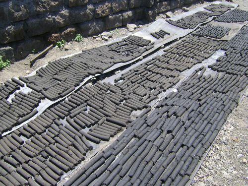 briquettes charcoal coal