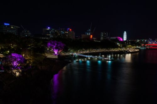 brisbane southbank nightview