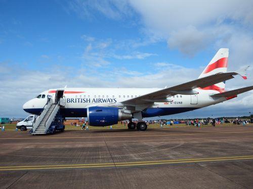 british airways passenger plane airliner