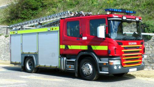 British Fire Engine Truck