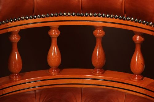 british furniture wood and leather chair upholstery