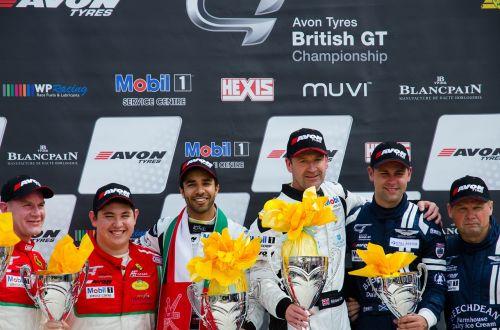 british gt podium race car