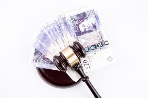 British Pounds Banknotes And Judge'