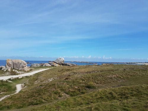 brittany coast littoral breton sea