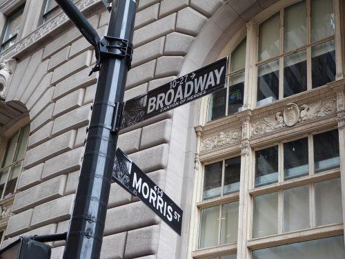 broadway street sign new york city