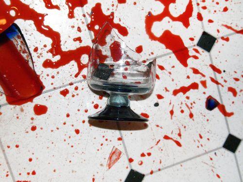 broken glass spill