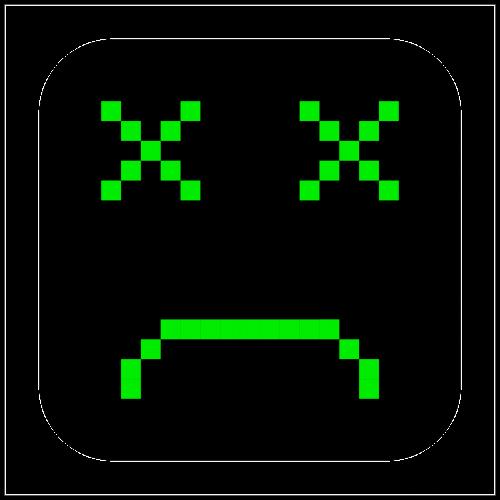 broken computer emoticon
