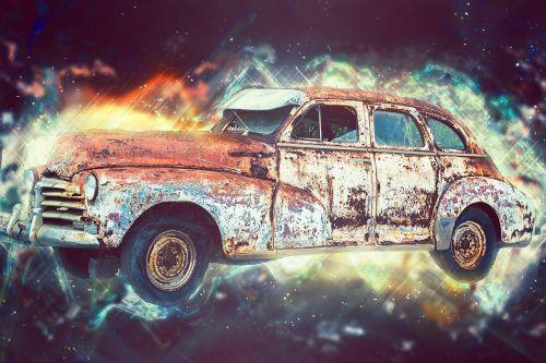 broken car vehicle