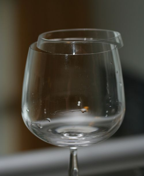 broken glass wine