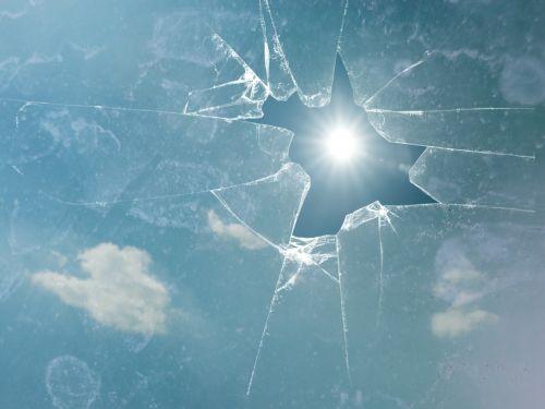 broken glass sun