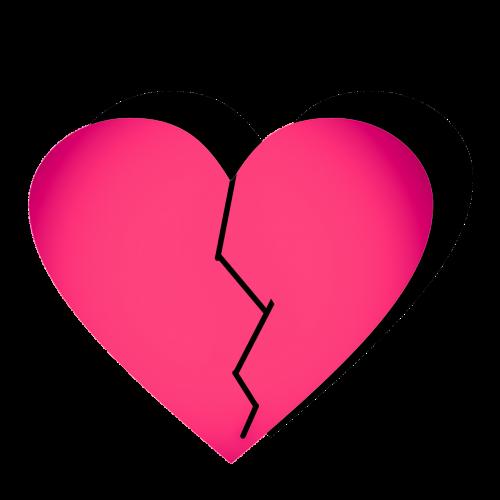 broken hart clipart vector