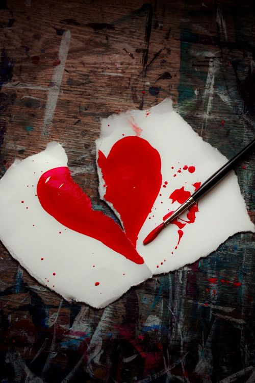 broken heart red heart