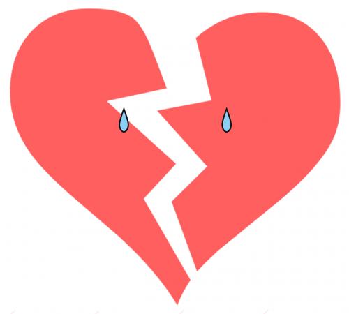 broken heart tears sad