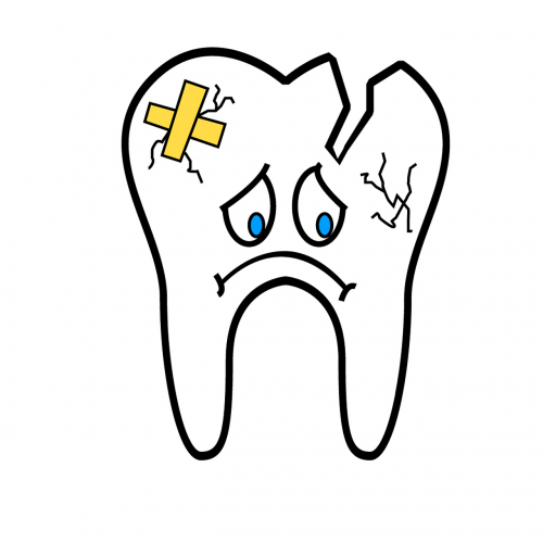 broken tooth tooth teeth