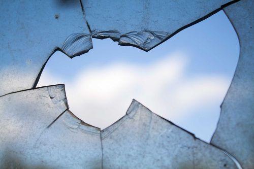 broken window hole glass